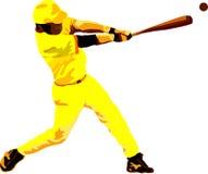 De speler van het honkbal stock illustratie