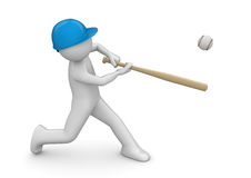 De speler van het honkbal - Sporten Stock Afbeelding