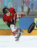 De speler van het ijshockey Royalty-vrije Stock Foto