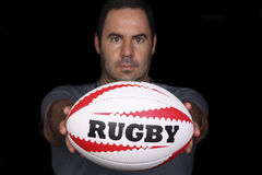 De speler van het rugby Royalty-vrije Stock Foto's