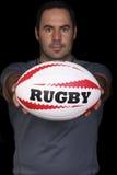 De speler van het rugby stock afbeelding