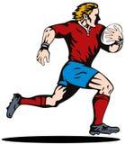De speler van het rugby vector illustratie