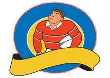 De speler van het rugby stock afbeeldingen