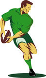 De speler van het rugby ongeveer om bal over te gaan Royalty-vrije Stock Foto's