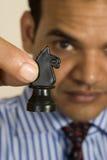 De speler van het schaak Stock Afbeeldingen