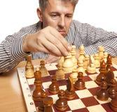 De speler van het schaak Stock Fotografie