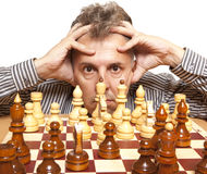 De speler van het schaak Royalty-vrije Stock Afbeelding