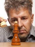 De speler van het schaak Stock Afbeelding