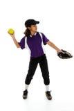 De Speler van het softball Stock Foto's