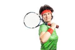 De speler van het tennis Stock Afbeelding