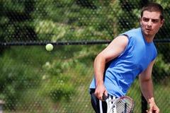 De speler van het tennis Royalty-vrije Stock Afbeeldingen