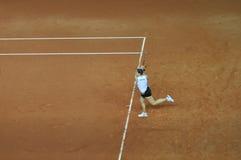 De speler van het tennis in actie Stock Afbeelding