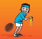 De speler van het tennis, illustratie stock illustratie