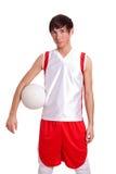 De Speler van het volleyball Stock Afbeeldingen