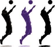 De speler van het volleyball Stock Foto's