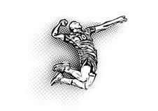 De speler van het volleyball royalty-vrije illustratie