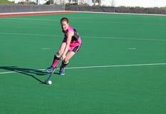 De Speler van het vrouwenhockey stock foto