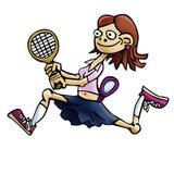 De speler van het vrouwentennis Stock Foto