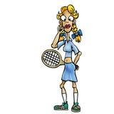 De speler van het vrouwentennis Stock Foto's