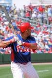 De Speler van MLB Philadelphia Phillies Stock Foto