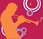 De Speler van Trumper royalty-vrije illustratie