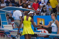 De speler Venus Williams en Angelique Kerber van het tennis Royalty-vrije Stock Afbeelding