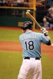 De speler Zobrist van de Stralen van de Baai van MLB Tamper Royalty-vrije Stock Fotografie