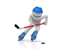 De spelerclose-up van het hockey Royalty-vrije Stock Foto