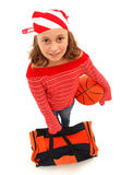 De spelermeisje van het basketbal Royalty-vrije Stock Afbeelding