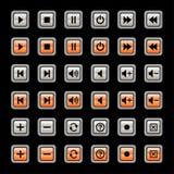 De spelerpictogrammen van media Royalty-vrije Stock Afbeeldingen