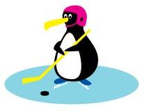 De spelerpinguïn van het hockey Royalty-vrije Stock Afbeeldingen