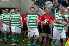 De spelers gaan de hoogte van Pairc Ui Chaoimh voor de Liam Miller Tribute-gelijke in royalty-vrije stock afbeeldingen