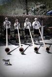 De spelers van Alphorn in Duitsland royalty-vrije stock foto's