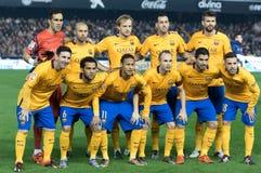 De spelers van Barcelona royalty-vrije stock fotografie