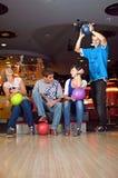 De spelers van Bowlin Stock Foto's