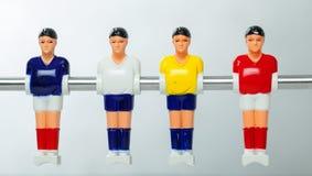 De spelers van de Foosballlijst Stock Afbeeldingen