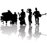 De spelers van de jazz Stock Foto