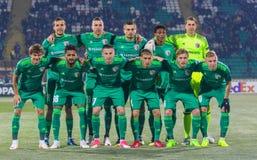 De spelers van FC Vorskla Poltava stock afbeelding