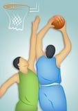 De Spelers van het basketbal Stock Illustratie