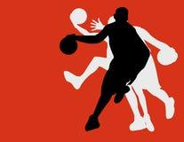De spelers van het basketbal Stock Foto