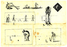 De spelers van het croquet Royalty-vrije Stock Afbeelding