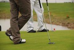 De spelers van het golf Stock Fotografie