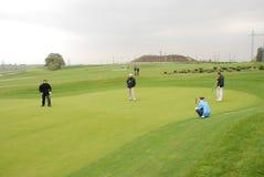 De spelers van het golf stock foto