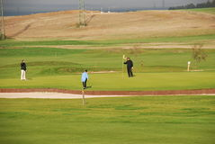 De spelers van het golf Stock Afbeelding
