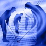 De Spelers van het golf Stock Afbeeldingen
