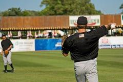De Spelers van het honkbal Stock Foto