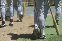 De spelers van het honkbal stock foto's