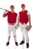 De Spelers van het honkbal Stock Afbeelding