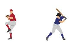 De spelers van het honkbal Vector Illustratie