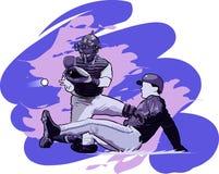 De Spelers van het honkbal Stock Fotografie